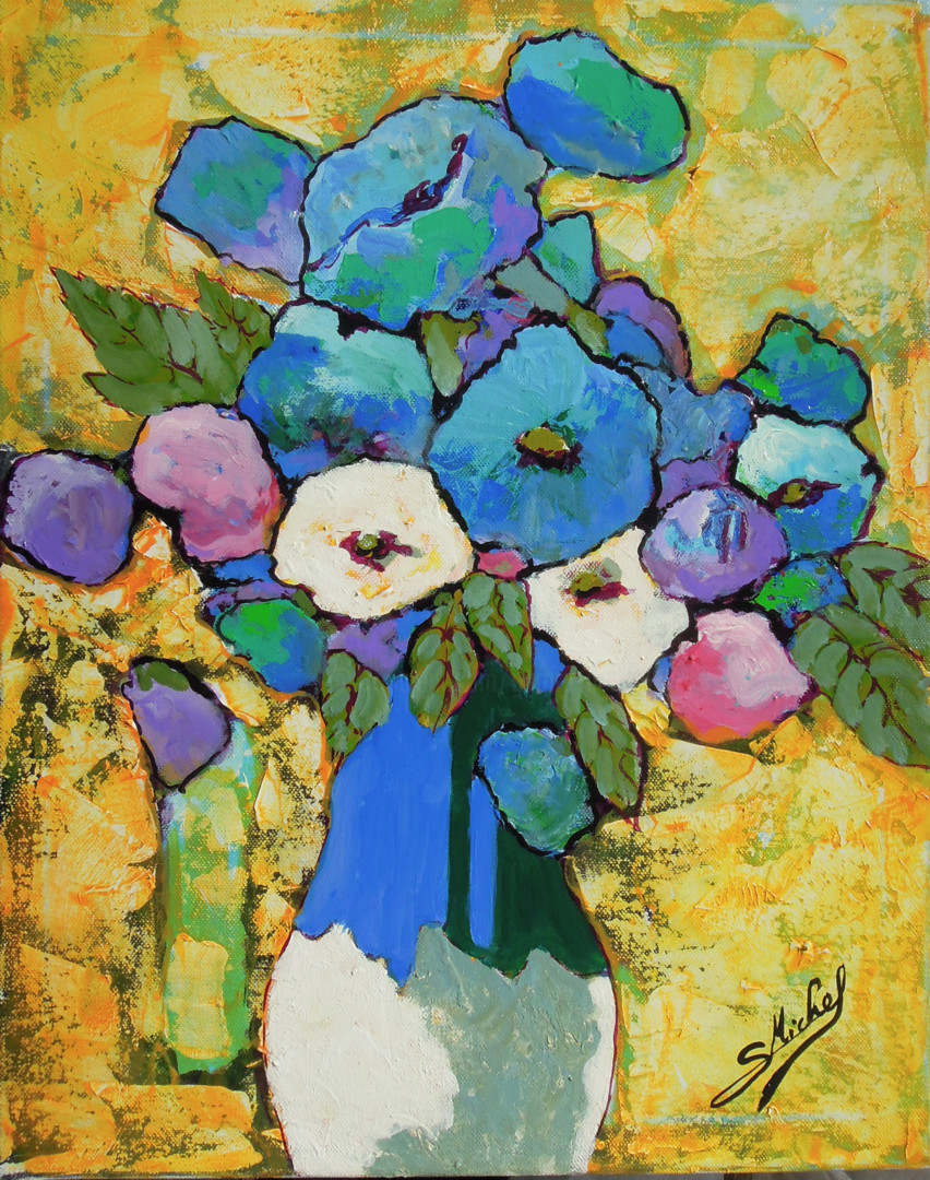 Gérard Michel - fleurs bleues