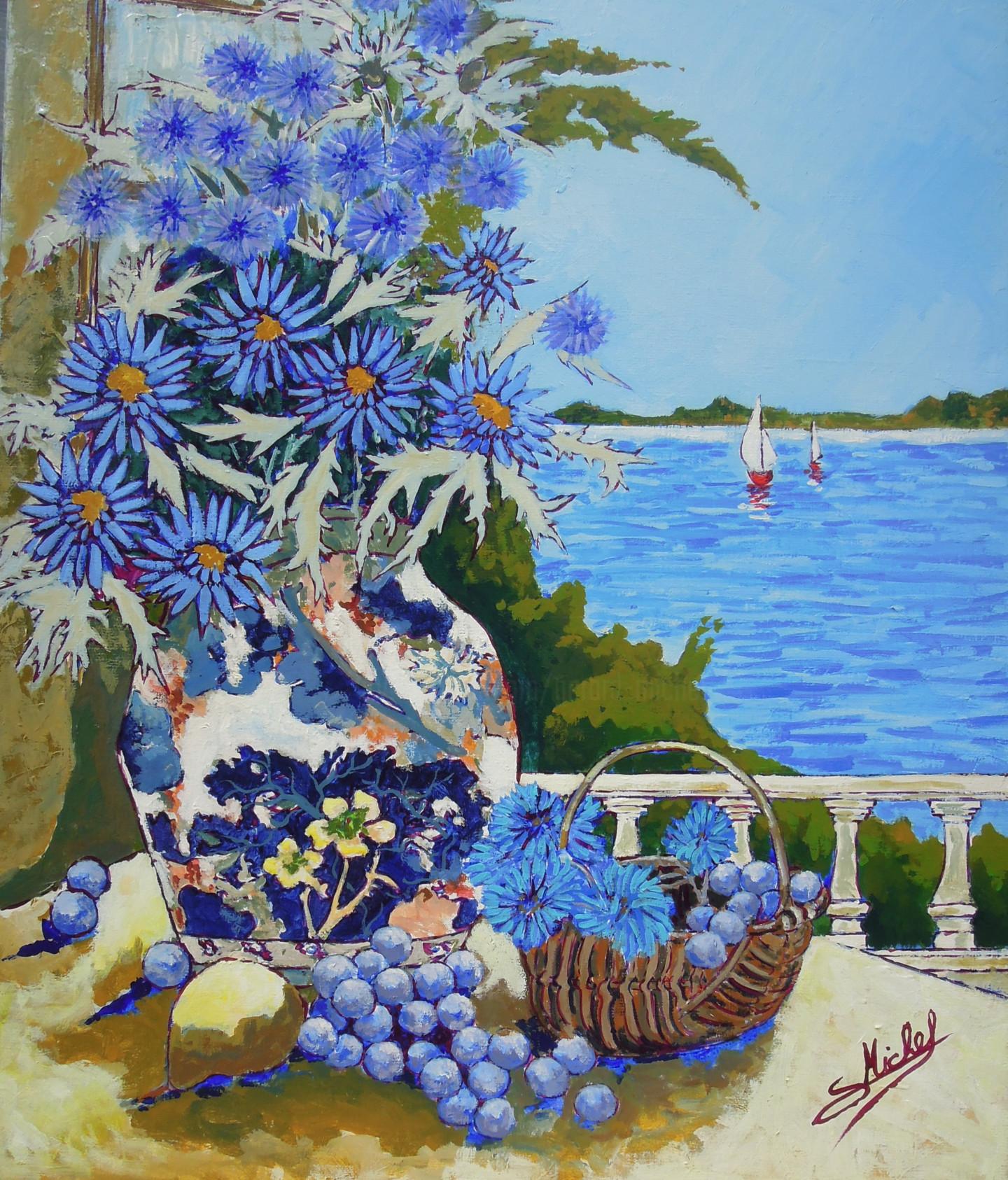 Gérard Michel - chardons, bleuets et raisins