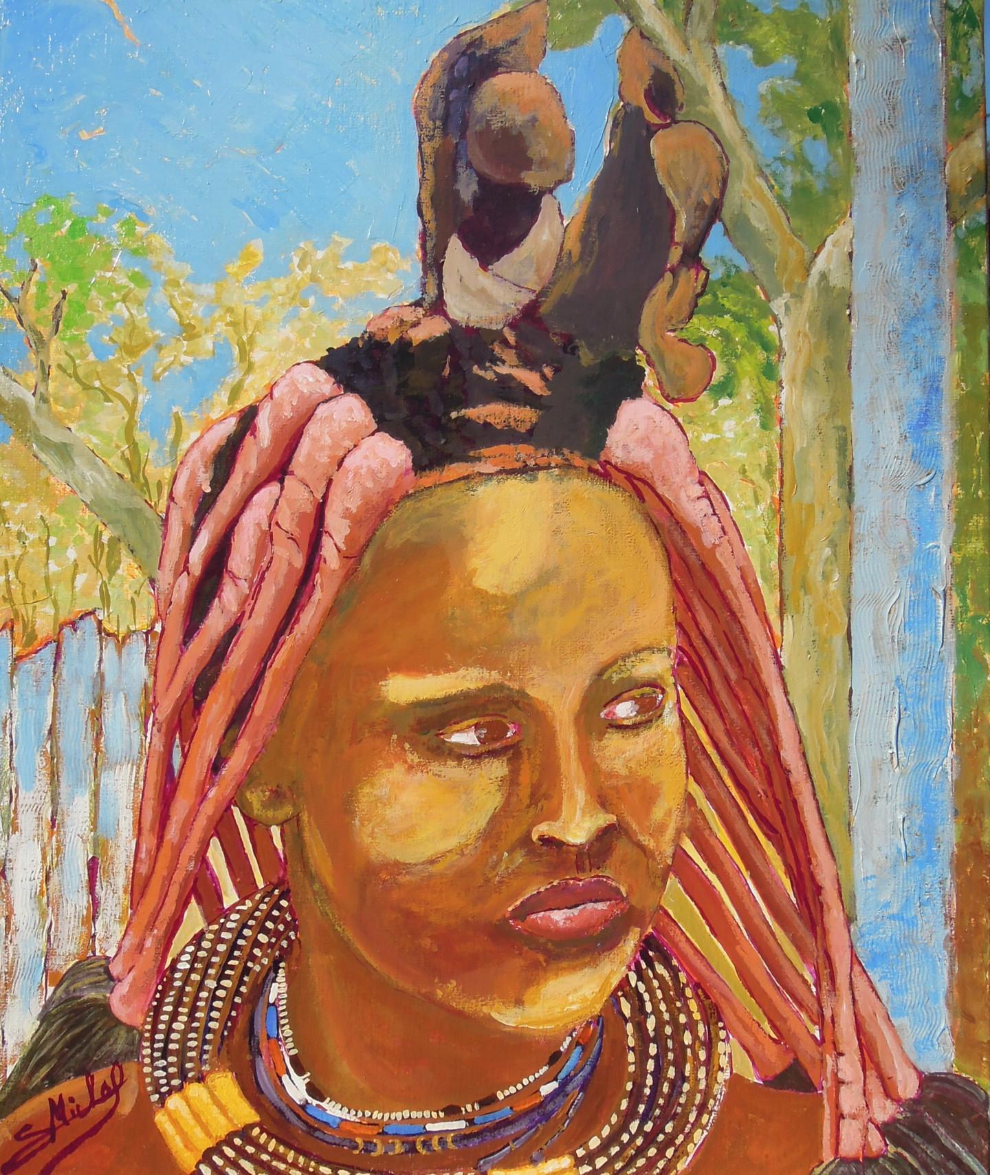 Gérard Michel - Femme Himba  (souvenirs de Namibie )