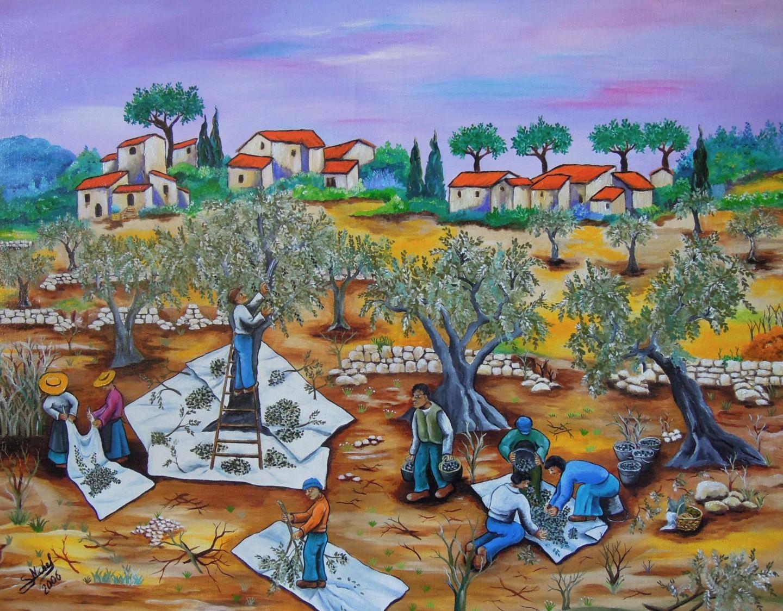 Gérard Michel - Ramassage des olives