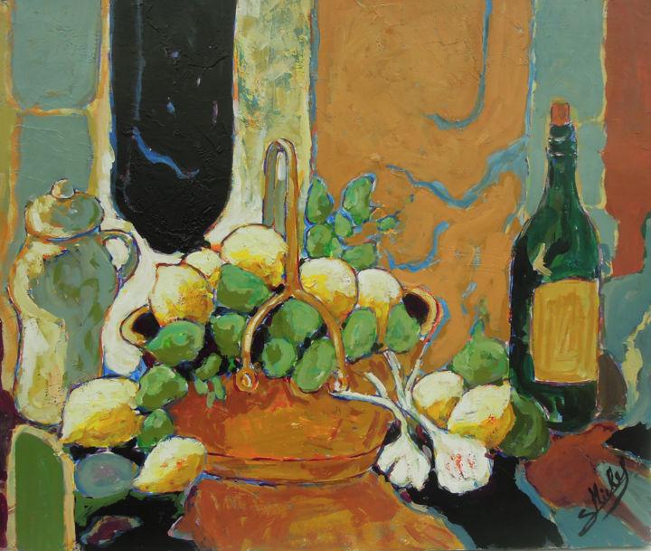 Gérard MICHEL - nature morte avec citrons
